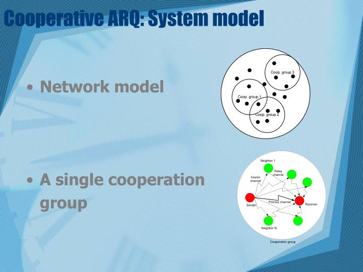 Cooperative ARQ: System model