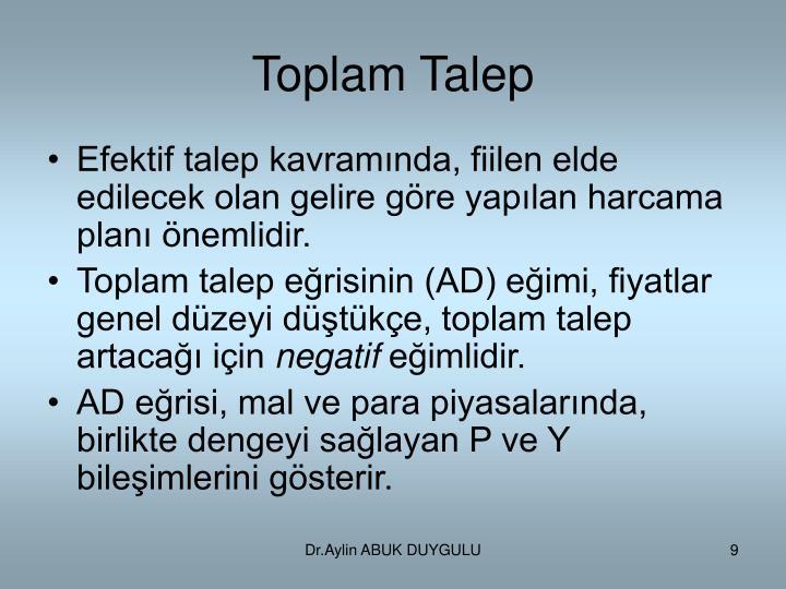Toplam Talep