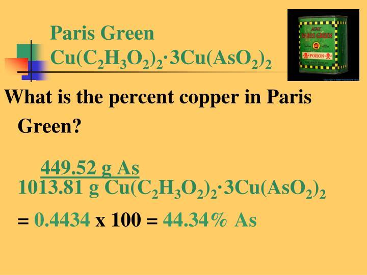 Paris Green Cu(C