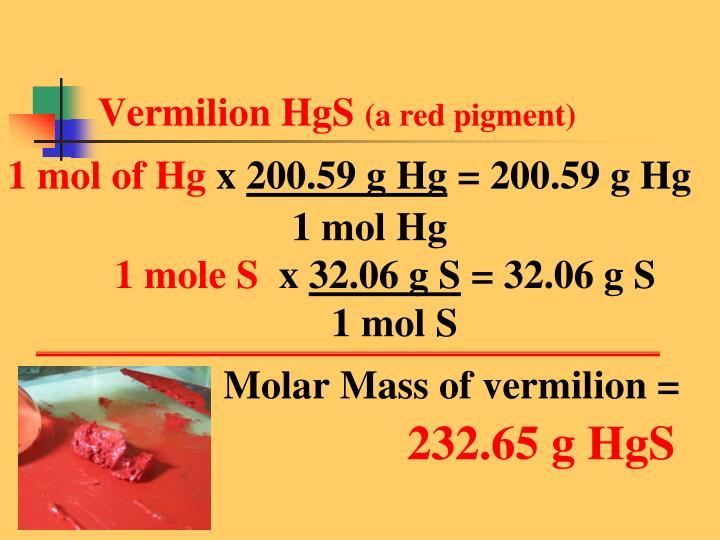 Vermilion HgS