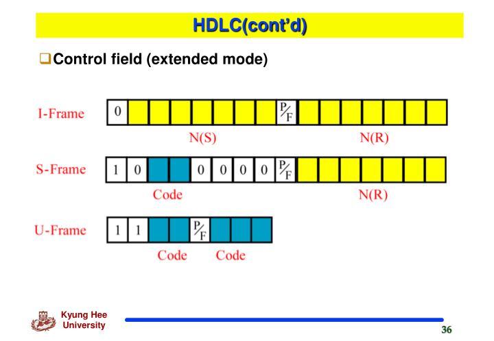 HDLC(cont'd)