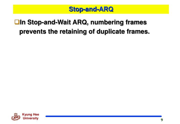 Stop-and-ARQ
