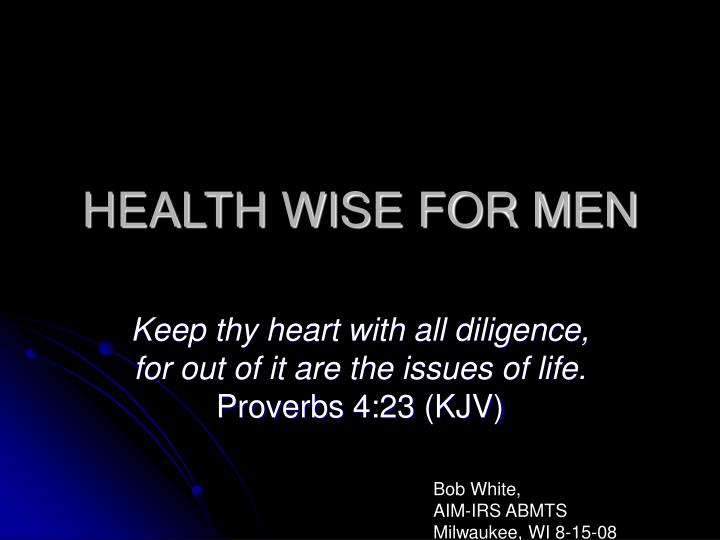 Health wise for men