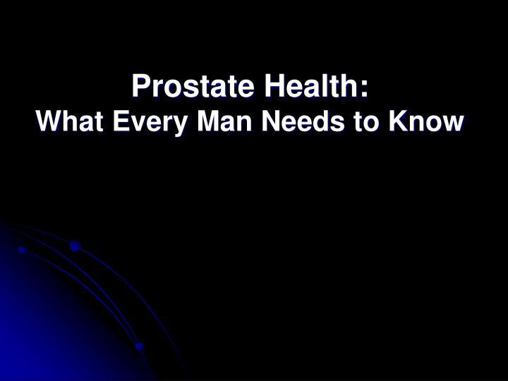 Prostate Health: