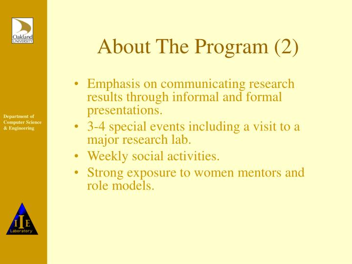 About The Program (2)