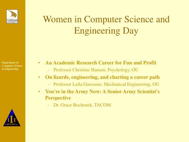 Women in Computer Science and Engineering Day
