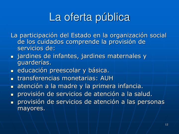 La oferta pública