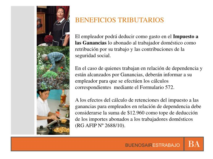 BENEFICIOS TRIBUTARIOS