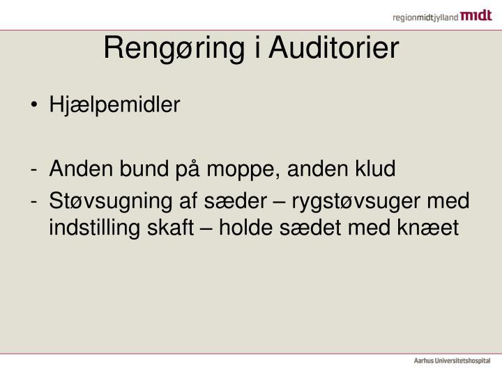 Rengøring i Auditorier