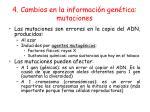 4 cambios en la informaci n gen tica mutaciones