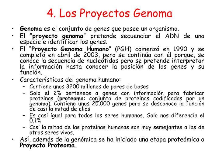 4. Los Proyectos Genoma