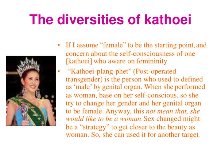 The diversities of kathoei