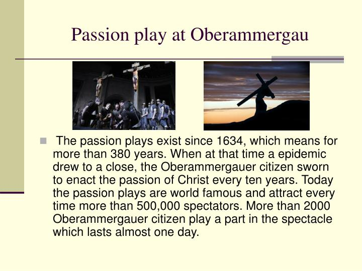Passion play at Oberammergau