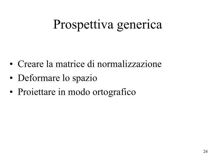 Prospettiva generica