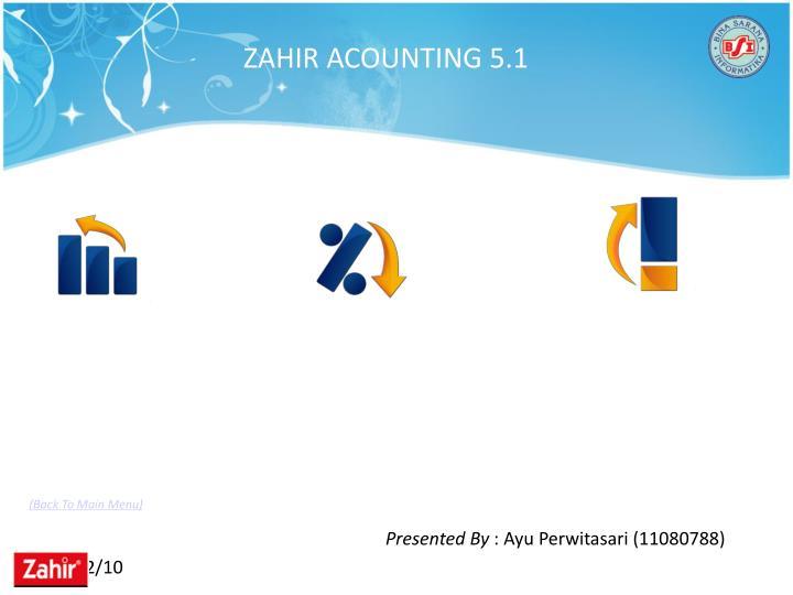 ZAHIR ACOUNTING 5.1