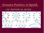 geometric primitives in opengl2
