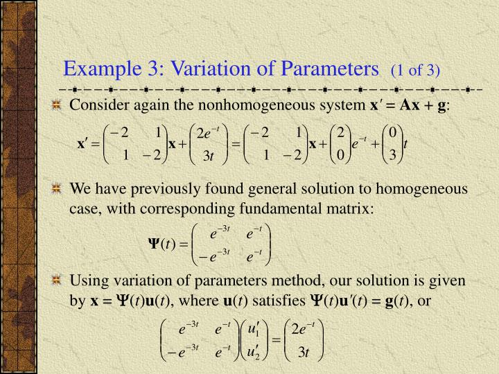 Differential equations variation of parameters pdf download