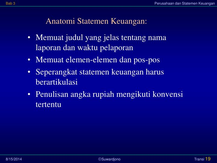 Anatomi Statemen Keuangan:
