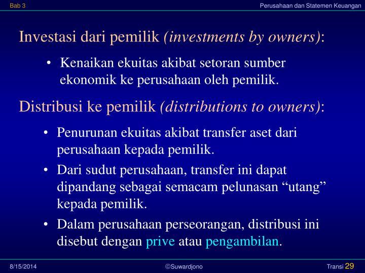 Investasi dari pemilik