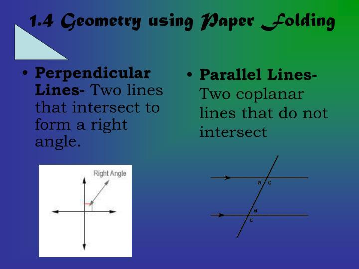 Perpendicular Lines-