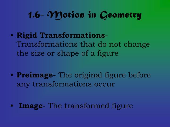 1.6- Motion in Geometry
