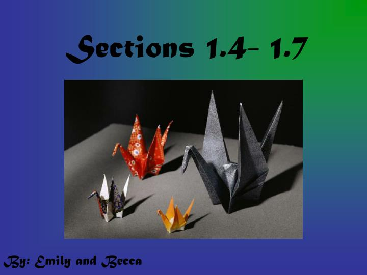 Sections 1 4 1 7