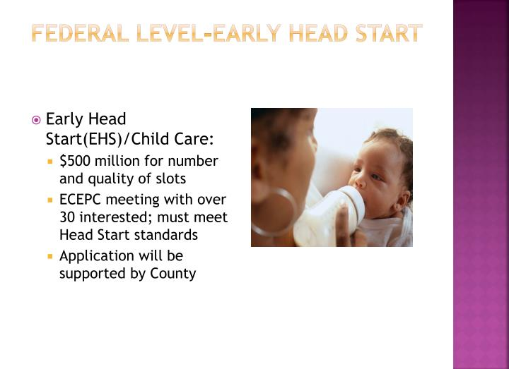 Federal Level-Early head start
