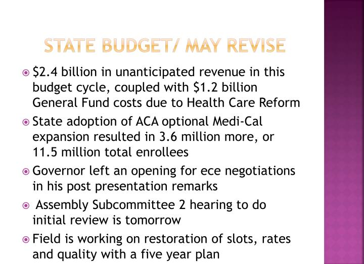 state budget/ May