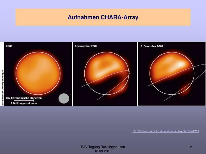 Aufnahmen CHARA-Array