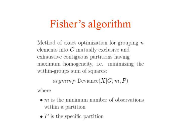 Fisher's algorithm