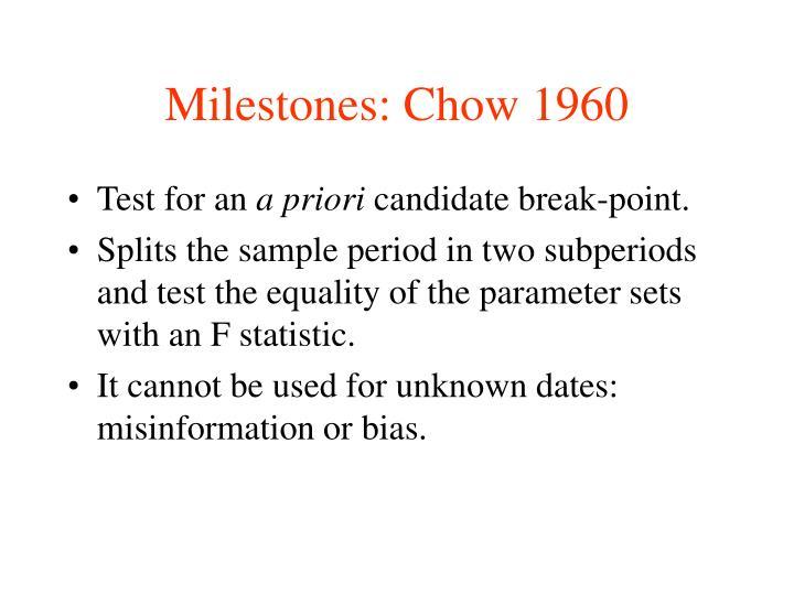 Milestones: Chow 1960