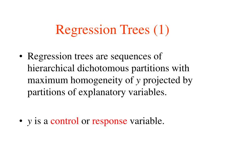 Regression Trees (1)