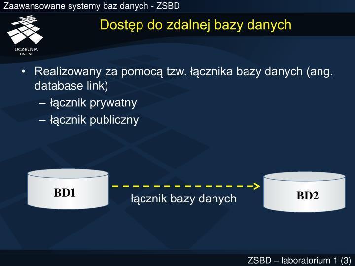 Dostęp do zdalnej bazy danych