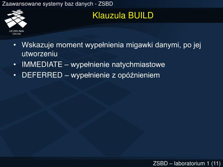 Klauzula BUILD