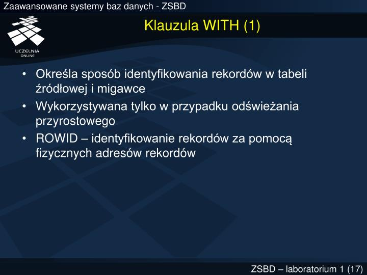 Klauzula WITH (1)