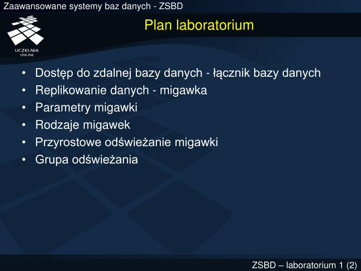 Plan laboratorium