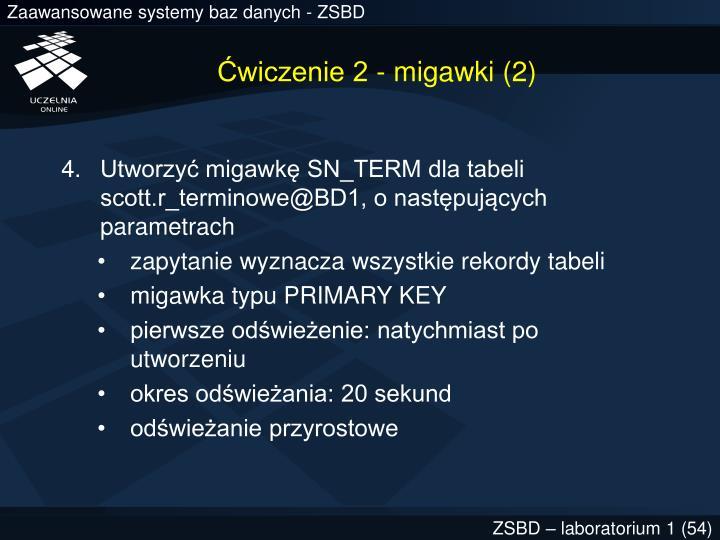 Ćwiczenie 2 - migawki (2)