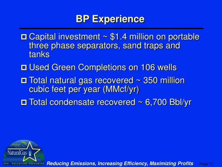 BP Experience