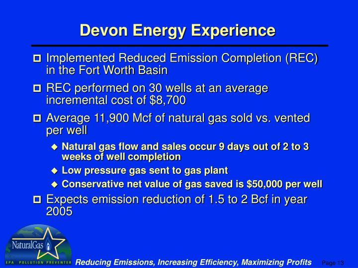 Devon Energy Experience