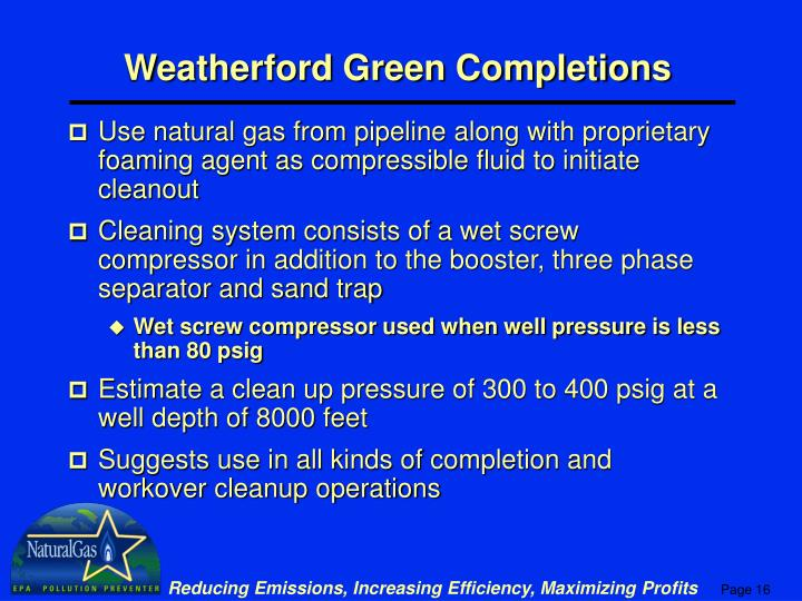 Weatherford Green Completions