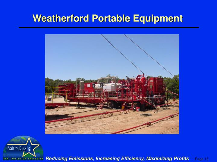 Weatherford Portable Equipment