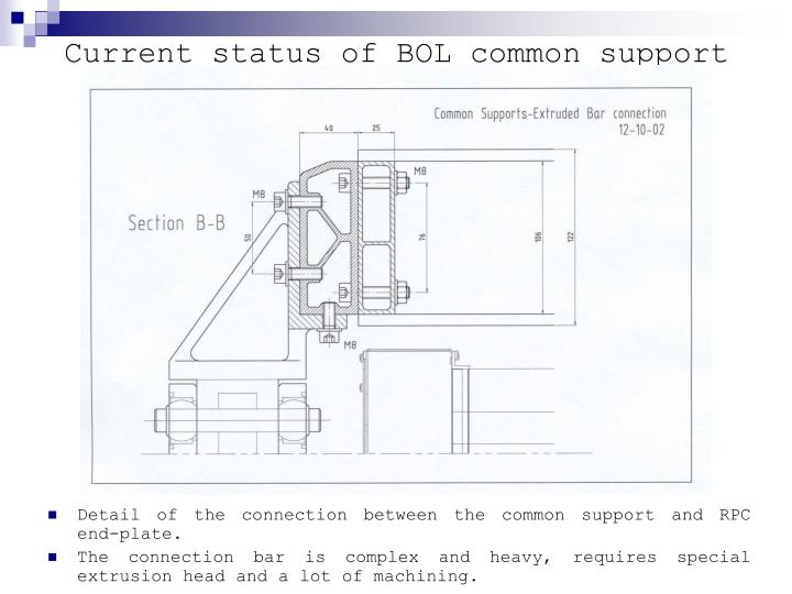 Current status of BOL common support