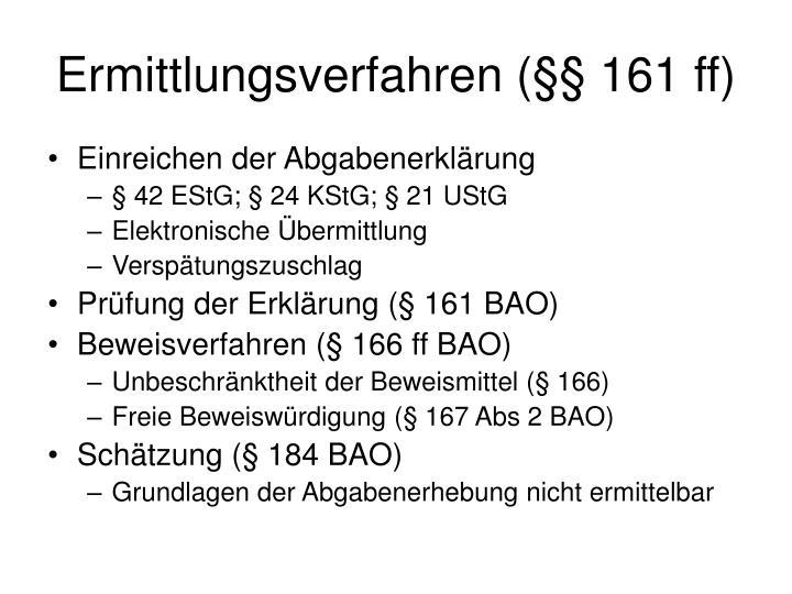 Ermittlungsverfahren (§§ 161 ff)