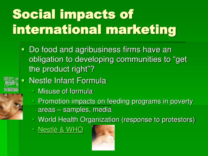 Social impacts of international marketing