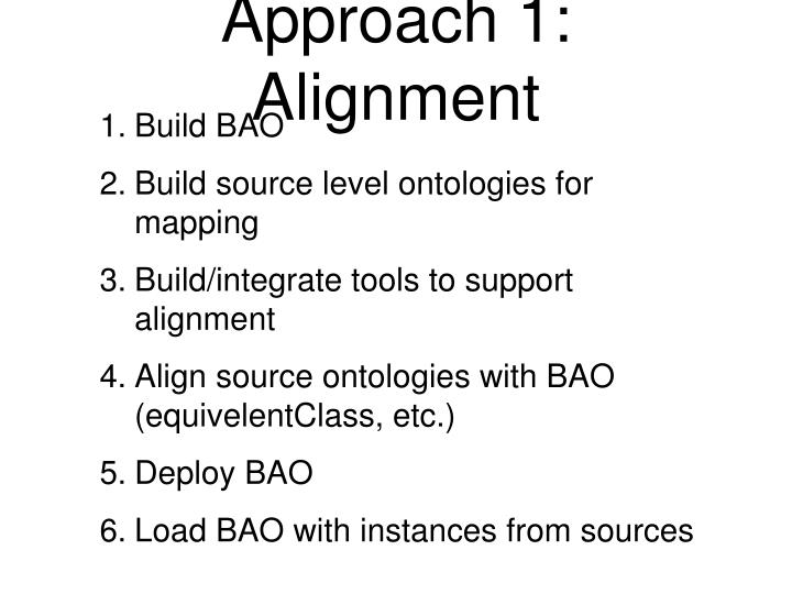 Approach 1: Alignment