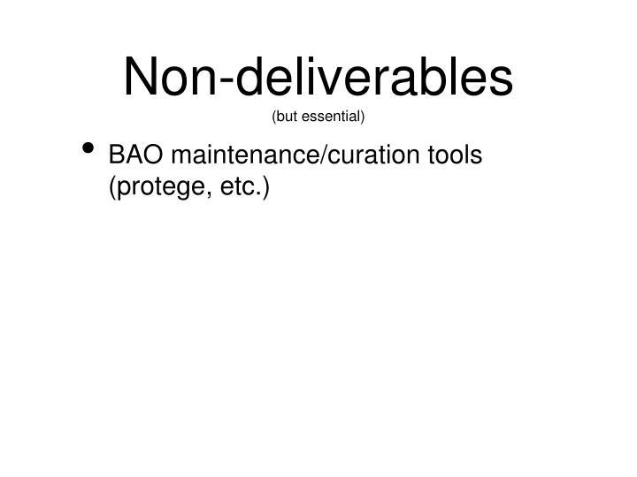 Non-deliverables