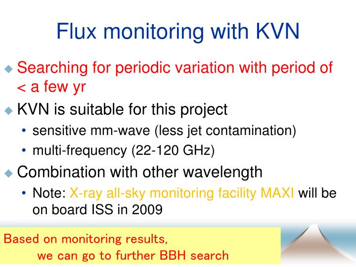 Flux monitoring with KVN