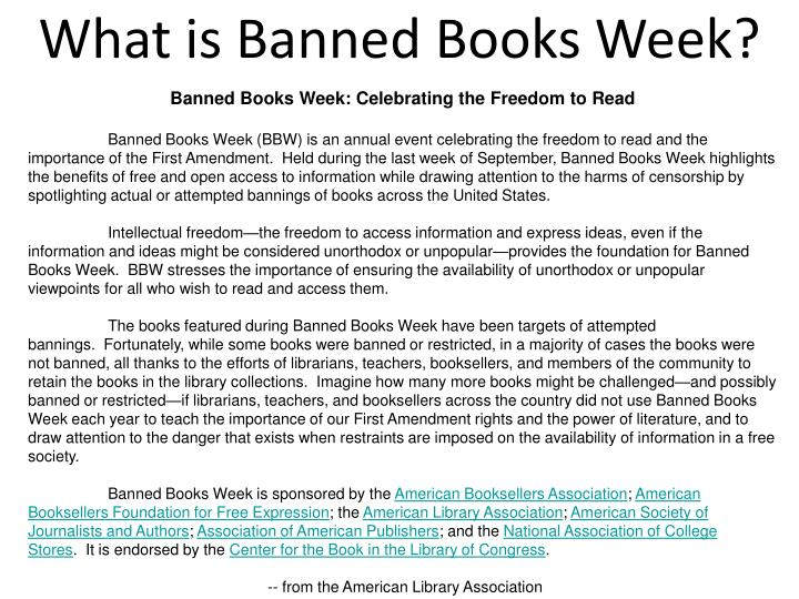 What is banned books week