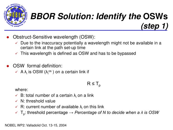 BBOR Solution: Identify the