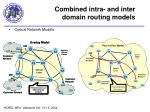 combined intra and inter domain routing models1